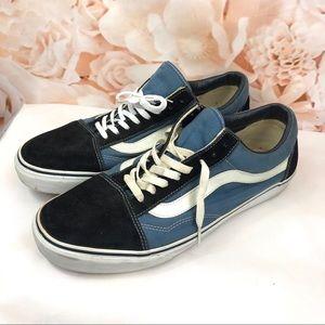 Vans men's blue black size 13